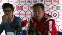 Marc Wilmots en conférence de presse depuis Knokke ce jeudi 28 mai