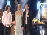 Le Prince Albert II et la Princesse Charlene au concert  de Jean-Michel Jarre à Monaco
