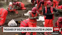 Thousands excavated from 'Bedlam' burial ground Construction on a new train station in London
