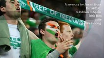 Fields of Athenry the song sung by Irish fans during Spain vs Ireland game at Euro 2012
