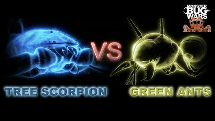 MONSTER BUG WARS | Tree Scorpion Vs Green Ants