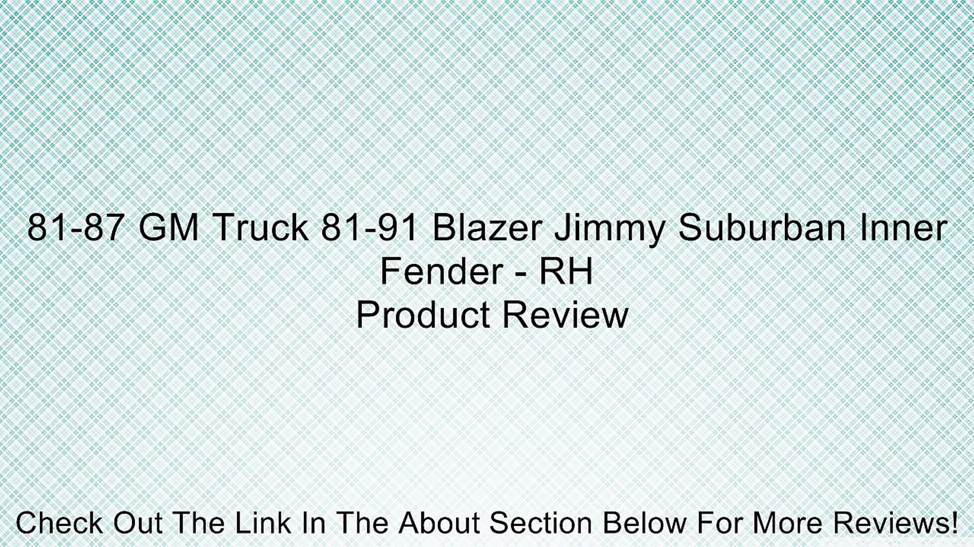 81-91 Chevy GMC Truck Blazer Jimmy Suburban Front Inner Fender Skirt RH AMD New