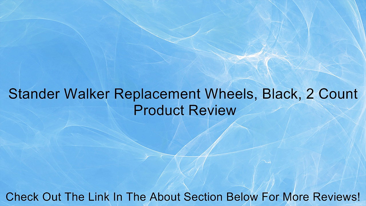 Stander Walker Replacement Wheels, Black, 2 Count Review