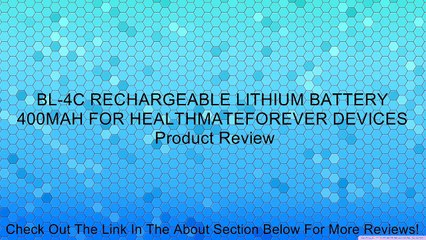BL-4C RECHARGEABLE LITHIUM BATTERY 400MAH FOR