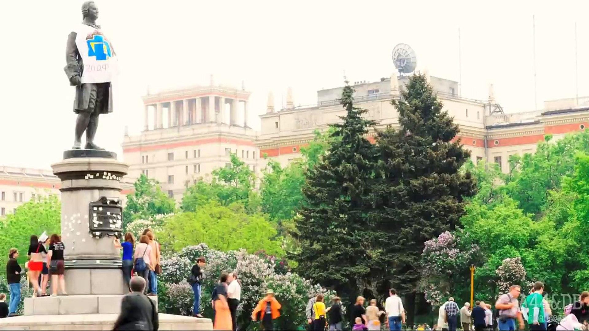 Timelapse: Sparrow Hills, Moscow State University, 2012 / МГУ, Воробьевы горы