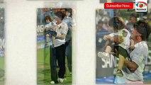 KKR Vs Mumbai Indians 2015 IPL Match - AbRam Cheers With Shah Rukh Khan