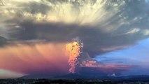 Şili'de yanardağ patladı