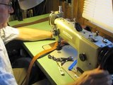 Sewing Suede Lined Leather Rifle Slings on a Walking Foot Machine