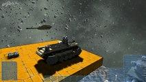 Space Engineers - Main Battle Tank M1A1/M60 Mechanical Tracks, Dakka dakka dakka!