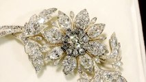 Antique Victorian 14.68 ct Diamond, 9 ct Yellow Gold Floral Brooch