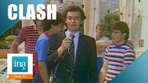 Clash culte: Michel Denisot poussé dans la piscine par Roland Courbis - Archive INA