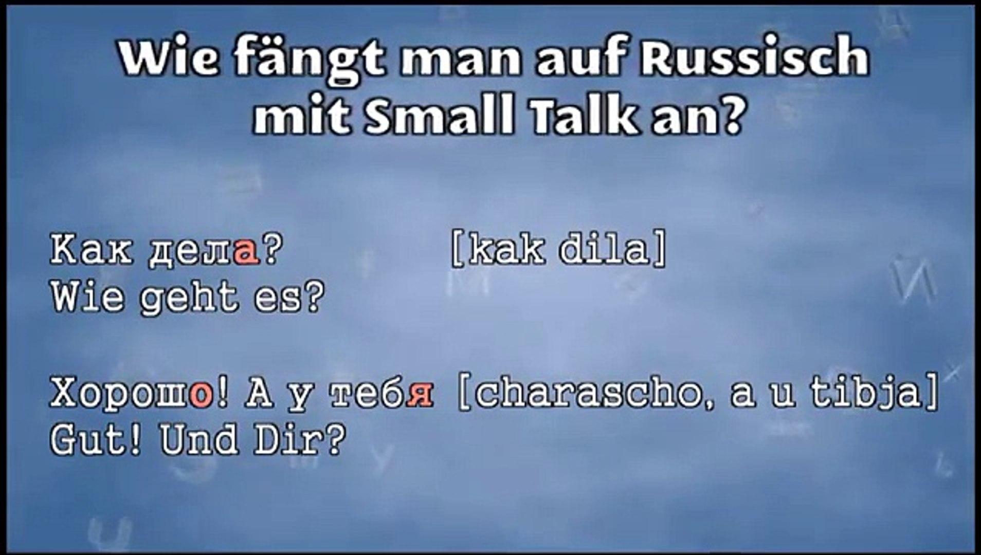 Wie gehts dir auf russisch