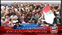 MQM Workers Burned PTI Flags At Karimabad Chowk Karachi NA246