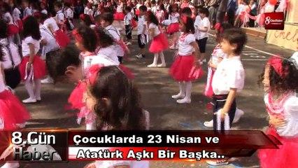 Çocuklarda 23 Nisan ve Atatürk Aşkı Bir Başka.. 8gunhaber