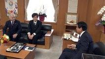 ノーベル物理学賞受賞・天野浩氏による下村文部科学大臣への表敬訪問(2014年10月)