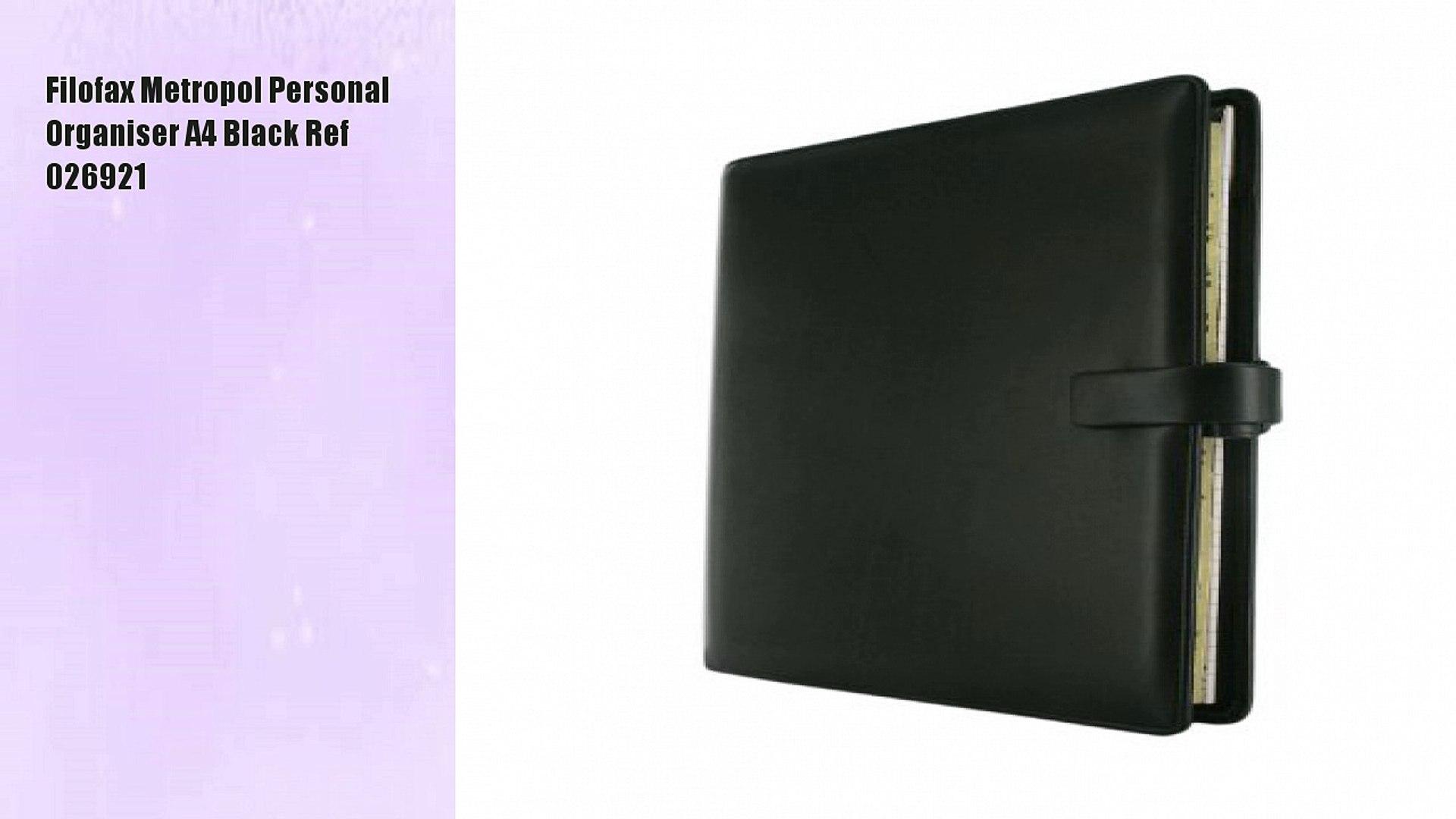 Black Filofax A4 Metropol Organiser