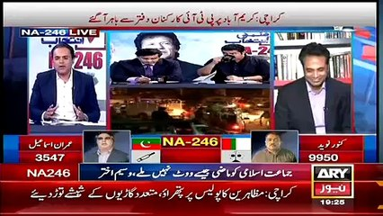 What was the reason for PTI to contest elections from NA-246- Talat Hussain Reveals