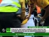 """España: Las acciones violentas de la Policía """"están amparadas por la ley"""""""