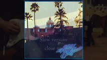 Hotel California The Eagles guitar solo cover normal & slow speed