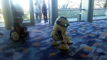 R2-D2 dances with boy In Wheelchair At Star Wars Convention