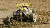EXCEED RC 1/8th Nitro Gas-Powered RC Cars BASHING ( Buggy vs. Truck vs. Truggy )