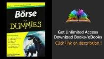 Boerse fuer Dummies (Fur Dummies) Download PDF