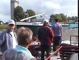 Idiot Boat Captain Hits Several Boats