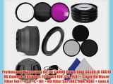 Professional Accessory Kit for CANON PowerShot SX500 IS SX510 HS Camera - Includes: Filter