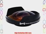 Opteka Platinum Series 58mm 0.3X HD Super Fisheye Lens for Canon GL1 GL2 VIXIA HF G10 S10 S100