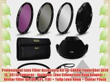 Professional Lens Filter Accessory Kit for CANON PowerShot SX10 IS SX1 IS Cameras - Includes: