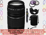Canon Zoom Telephoto EF 75-300mm f/4.0-5.6 III Autofocus Lens   SSE Accessory Kit for Canon