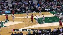 Giannis Antetokounmpo Block Joakim Noah _ Bulls vs Bucks _ Game 3 _ Apr 23, 2015 _ 2015 NBA Playoffs