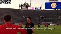 Manchester United - Louis van Gaal Shouts At Wayne Rooney, Tells Him How To Shoot!