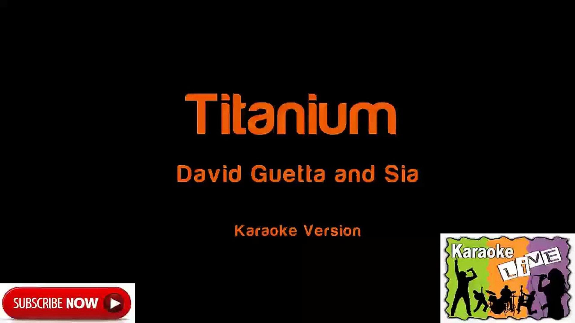 David Guetta and Sia Titanium Karaoke Version Best songs Of David Guetta