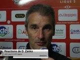 (J33) Laval 0-2 GFC Ajaccio, réaction de D. Zanko