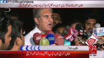 Vice Chairman PTI Shah Mehmood Qureshi Media Talk Multan Airport 24 April 2015