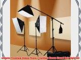 ePhoto Digital Photography Video 2400 Watt THREE Softbox Lighting