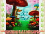 Castle Beyond Mushrooms 10 x 10 CP Backdrop Computer Printed Scenic Background GladsBuy Backdrop