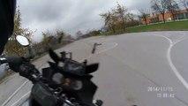 Motorbikes chasing RC car