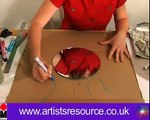 Make a Paper Mache Mirror - Acrylic Painting Project - Art and Craft