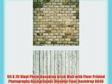 5ft X 7ft Vinyl Photo Backdrop Brick Wall with Floor Printed Photography Backgrounds Wooden