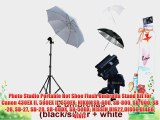 Photo Studio Portable Hot Shoe Flash Umbrella Stand Kit for Canon 430EX II 580EX II 550EX NIKON