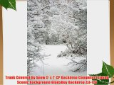 Trunk Covered By Snow 5' x 7' CP Backdrop Computer Printed Scenic Background GladsBuy Backdrop