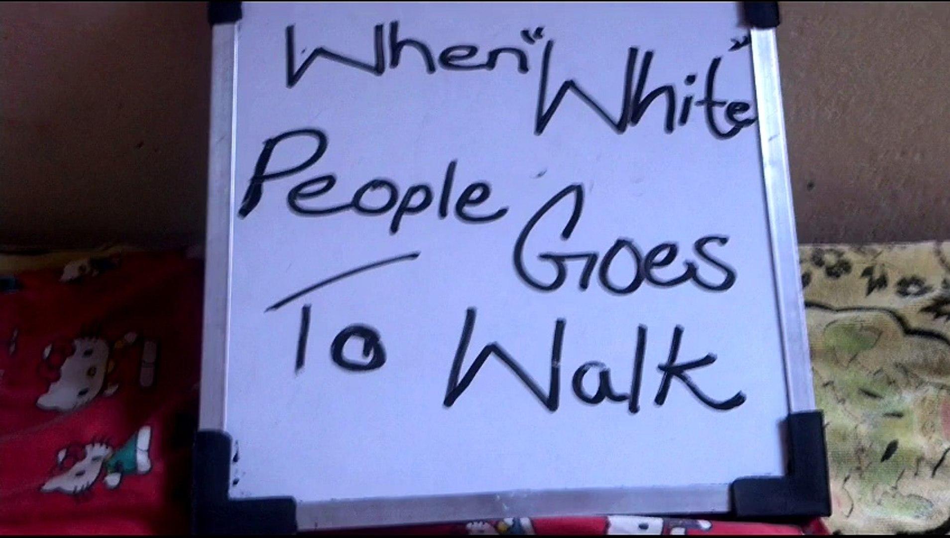 how people walk..Brown People vs White People..