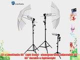LimoStudio 1000 Watt Photography Studio Umbrella Cool Fluorescent Continuous Lighting Kit Set-