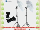 LimoStudio 400 Watts Photo Portrait Studio Continuous Umbrella Lighting Light Kits - (2)x 45W