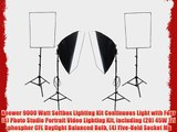 Neewer 9000 Watt Softbox Lighting Kit Continuous Light with Four(4) Photo Studio Portrait Video