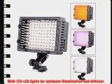 CN-126 LED Video Light for Camera DV Camcorder Lighting 5400K All Standard ISO 518-2006 hot