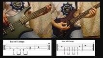 1) Rammstein - Ich Will (Bass & Guitar lesson + TAB)