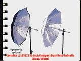 Lastolite LL LU3221 32-Inch Compact Dual-Duty Umbrella (Black/White)